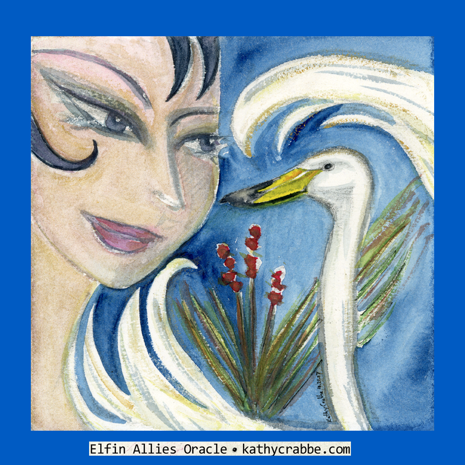 Whooper Swan by Kathy Crabbe from the   Elfin Ally Oracle Deck   .