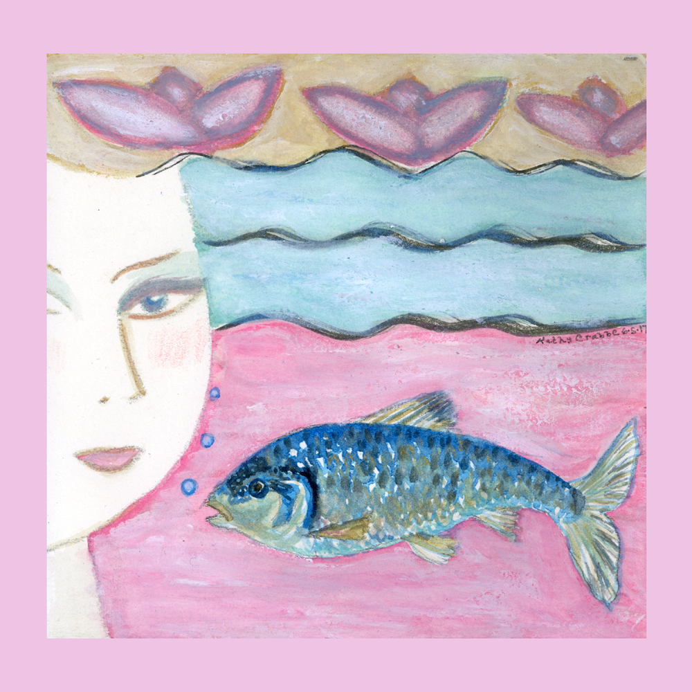 Shiner Fish by Kathy Crabbe from the   Elfin Ally Oracle Deck   .