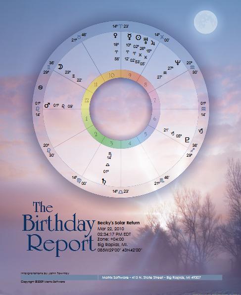 Birthday Report