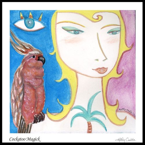 Cockatoo Magick by Kathy Crabbe from the  Elfin Ally Oracle Deck .