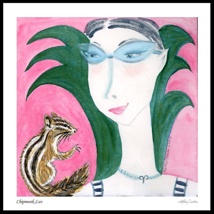 Chipmunk Luv - Gemini Moon Elfin Ally Oracle by Kathy Crabbe