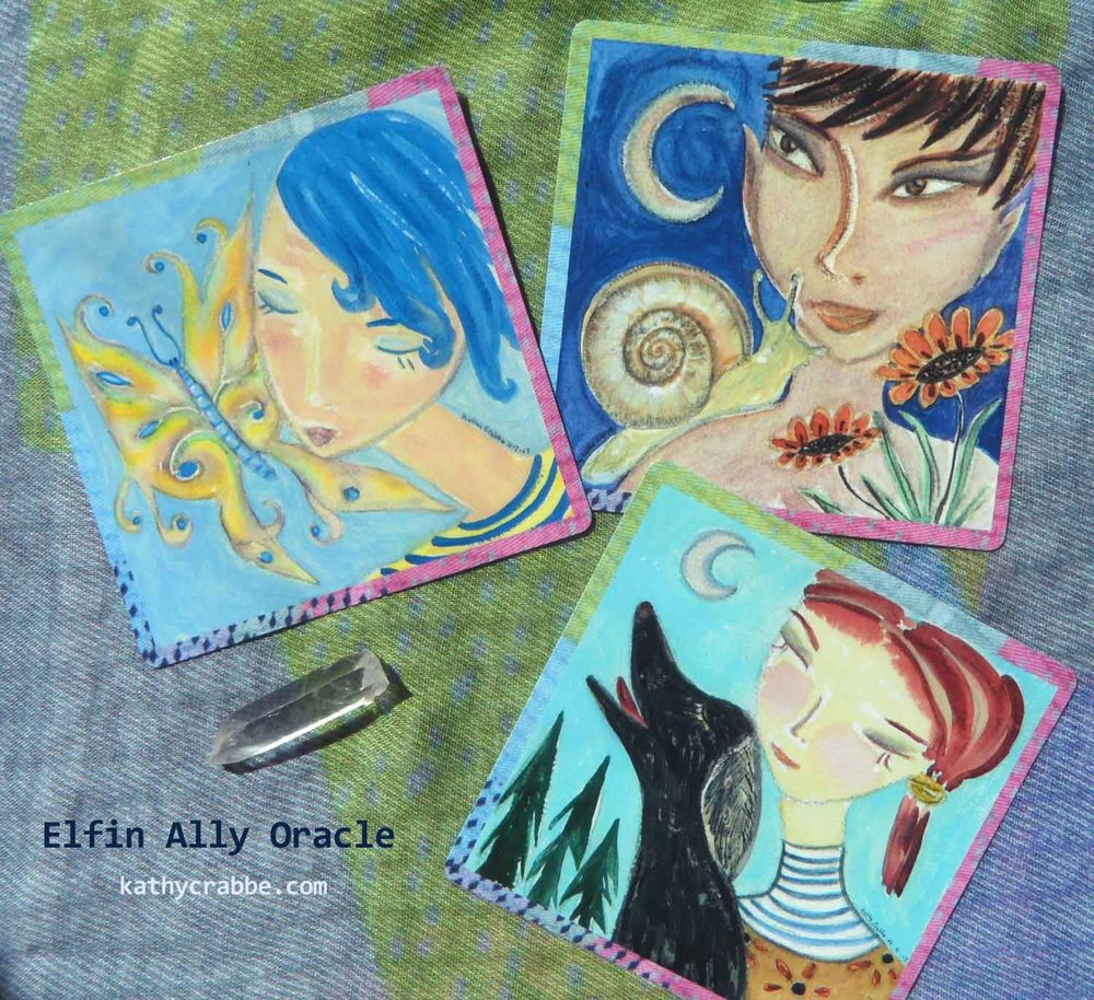Elfin Ally Oracle Deck by Kathy Crabbe