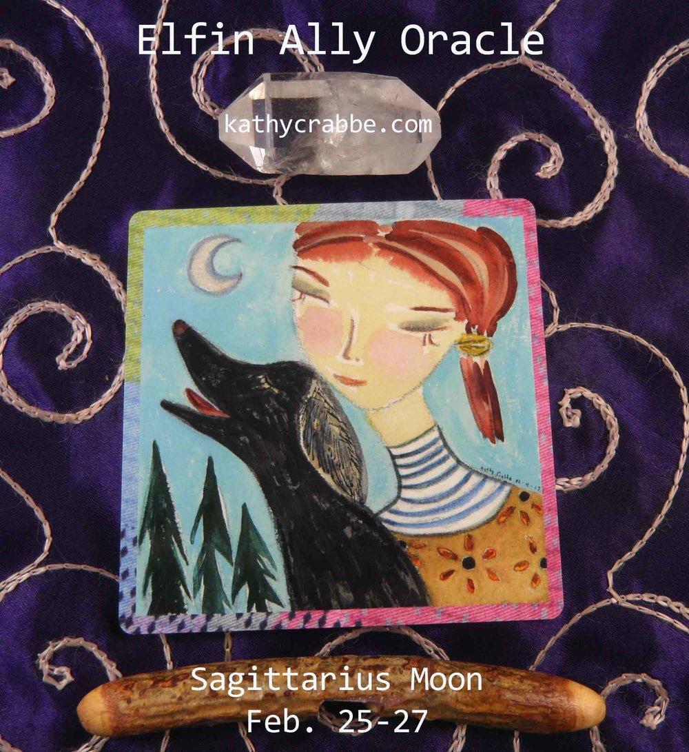 Sagittarius Moon-Vibes by Kathy Crabbe