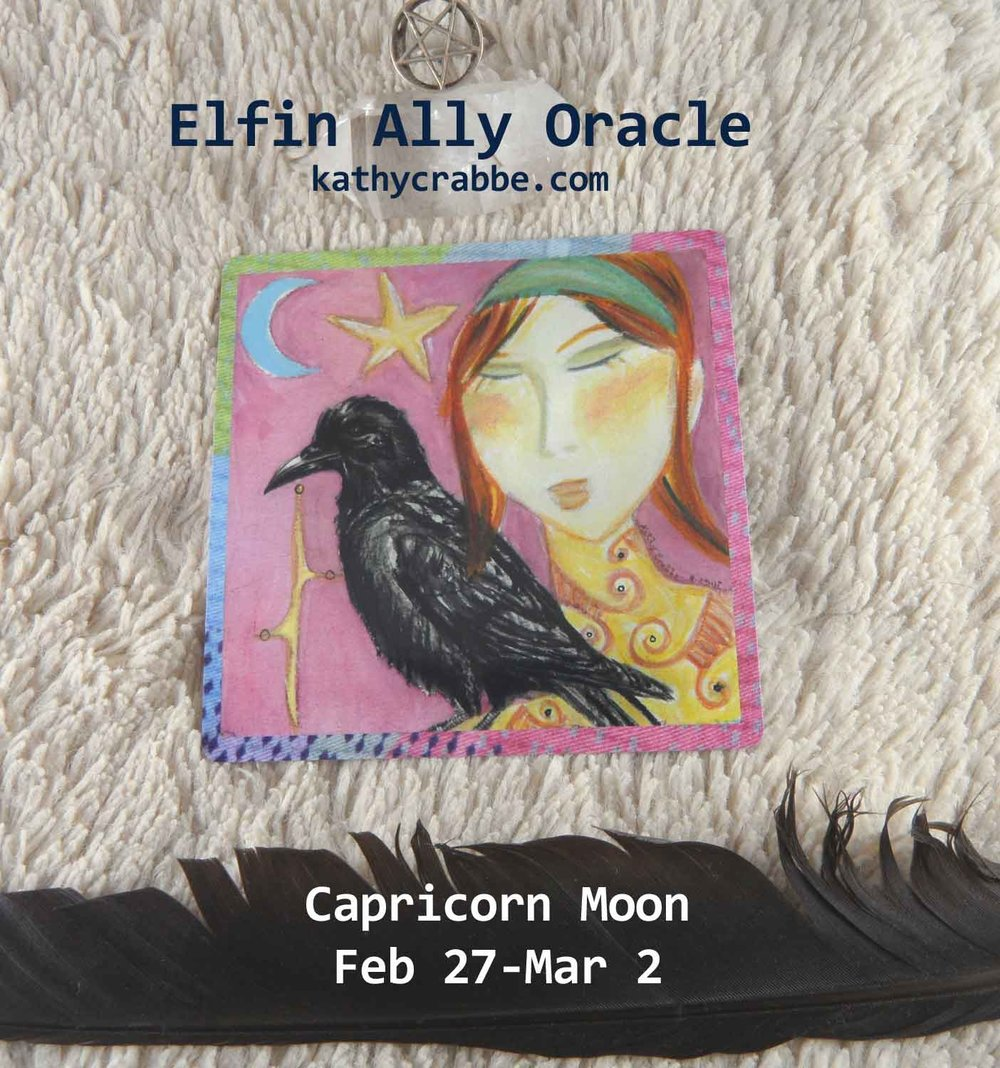 Raven oracle by Kathy Crabbe