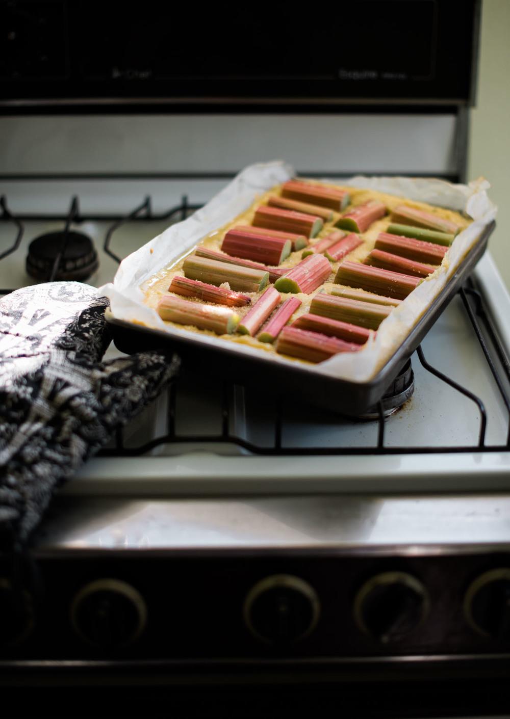 hannah puechmarin rhubarb tart
