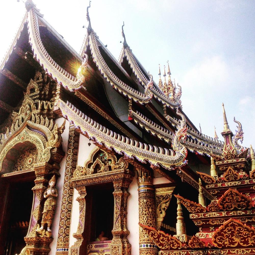Wat Raja Montean in the northwest corner of the old city