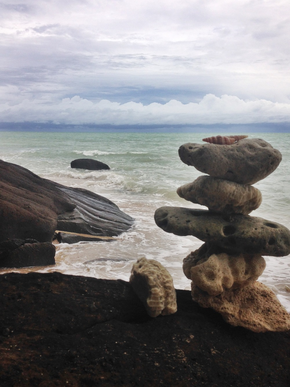 A cairn on the beach