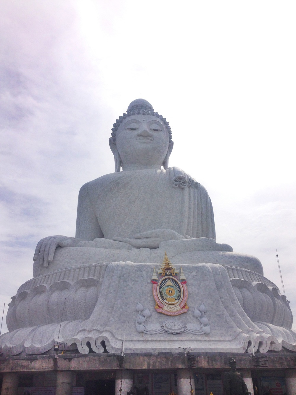 Big Buddha, made entirely of white marble