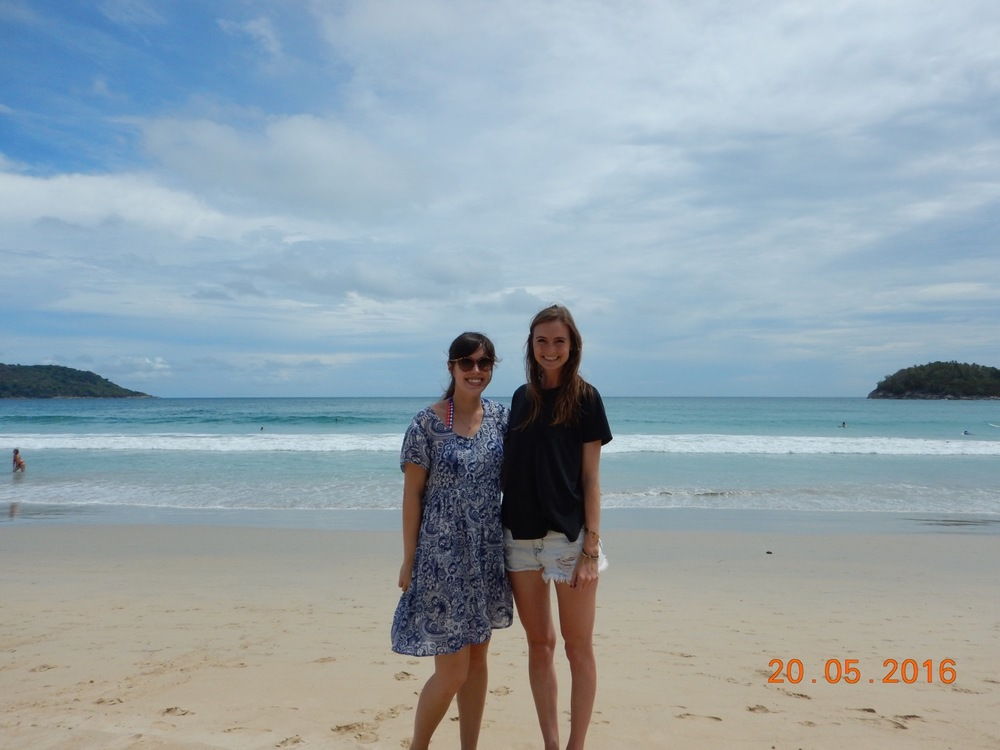 Lucy and me on Kata beach (photo courtesy of Angelique)