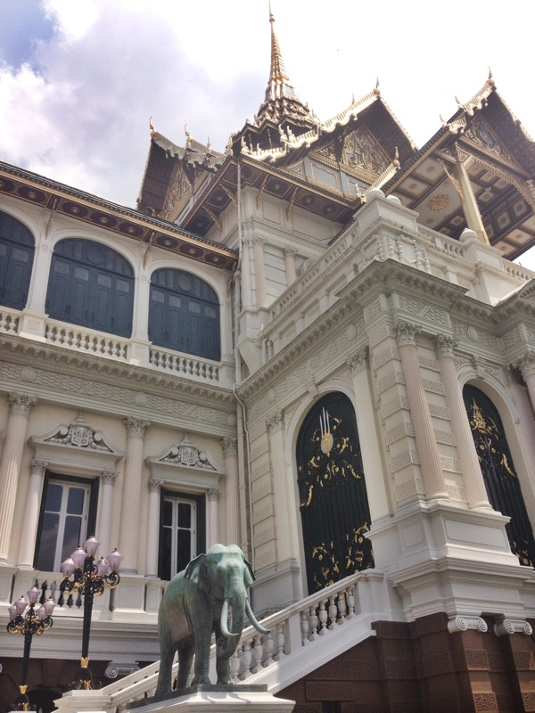 view of the front of the grand palace's main building