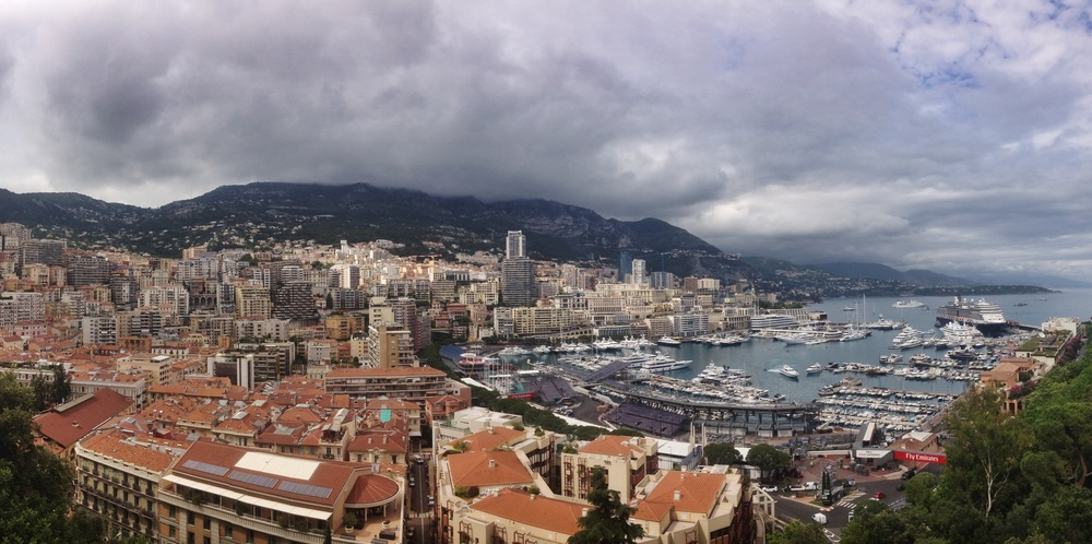 Monaco from above, remnants of the Grand Prix stadium seating