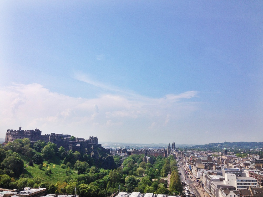 View of Edinburgh Castle from the Scott monument