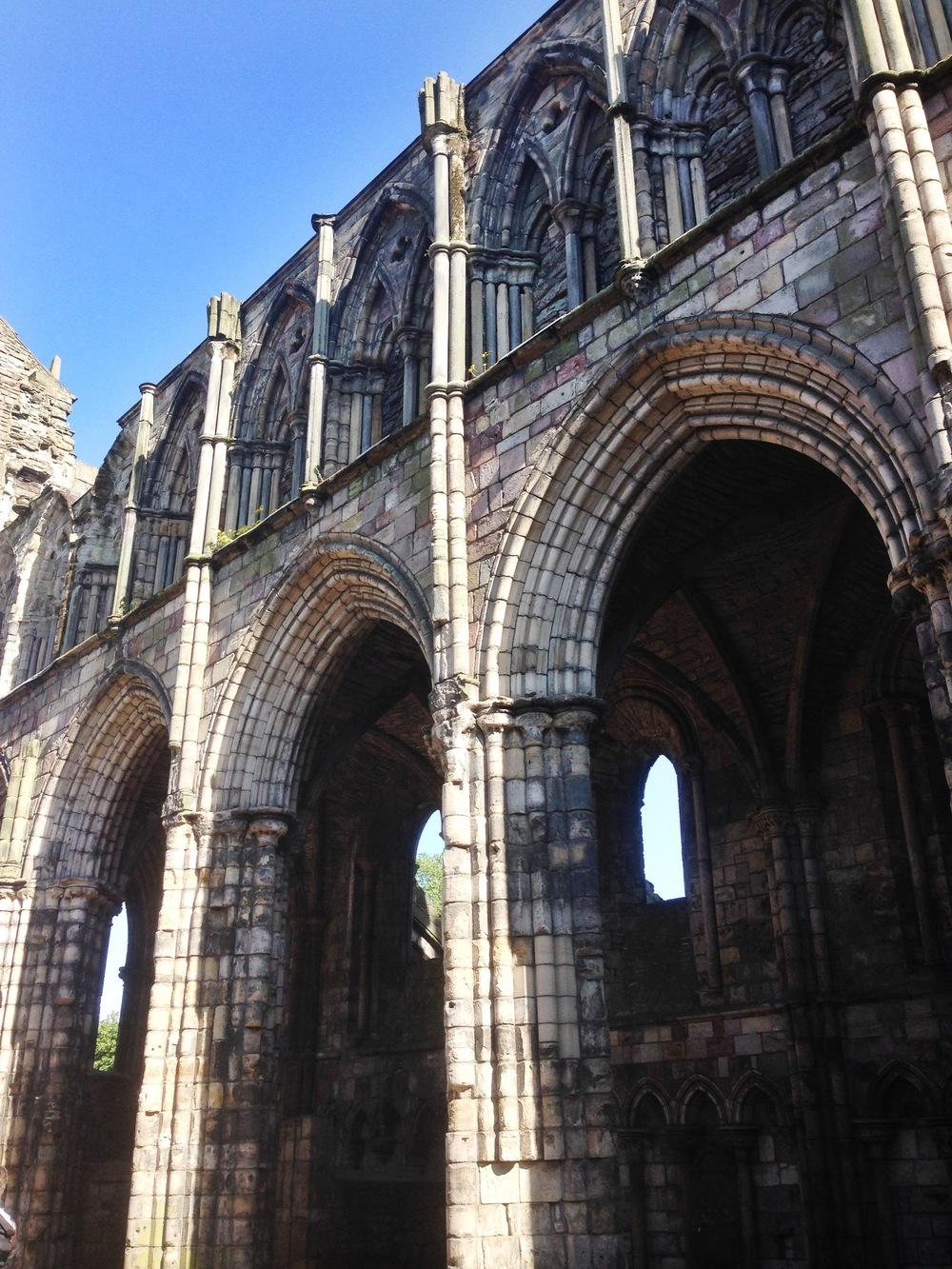 The abbey ruins at Holyrood Palace