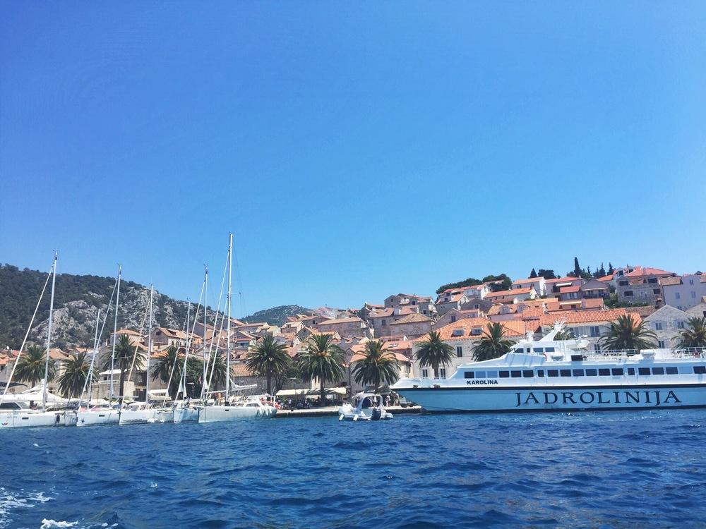 The hilly port of Hvar