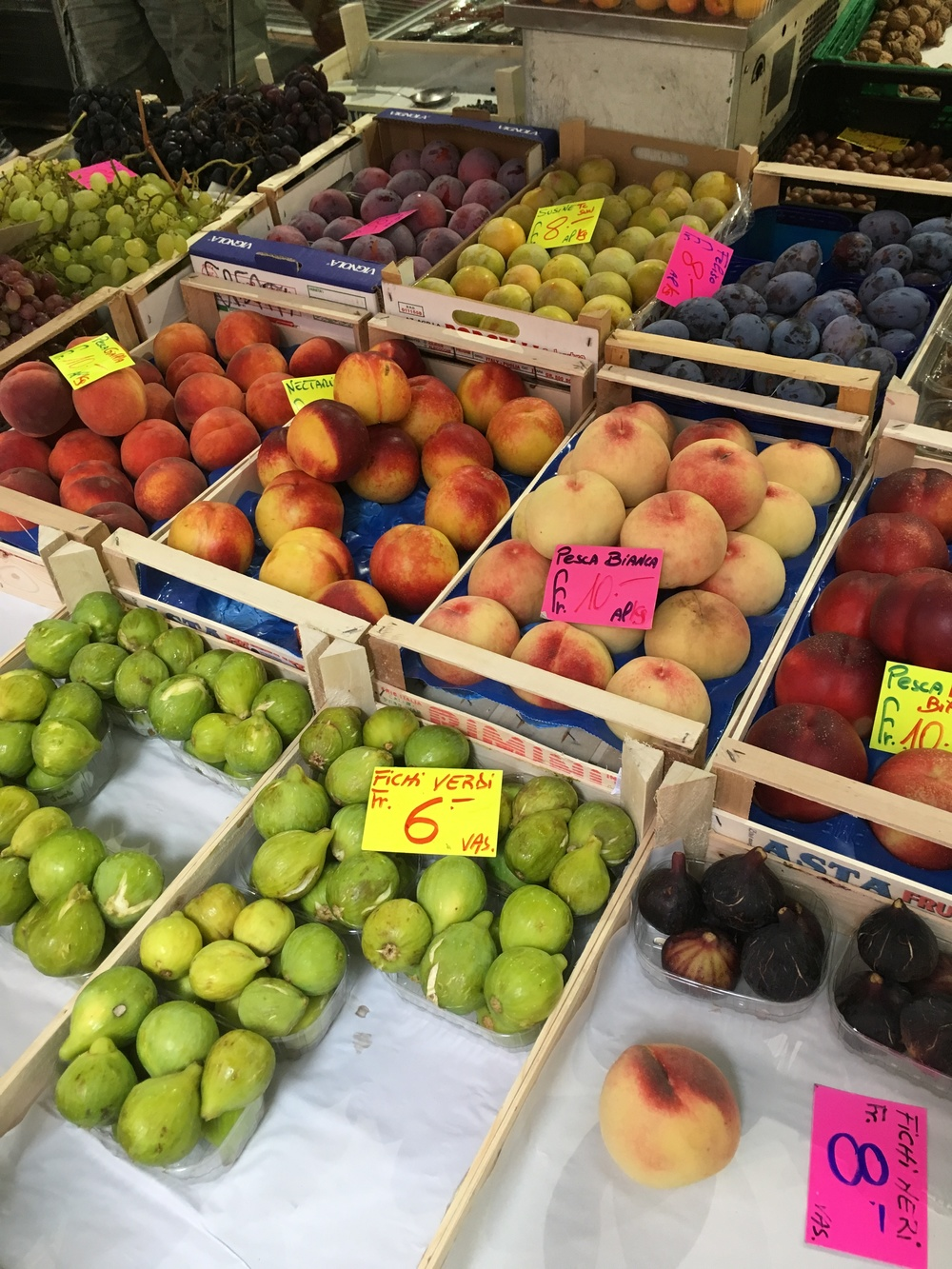 Fresh fruit at the market