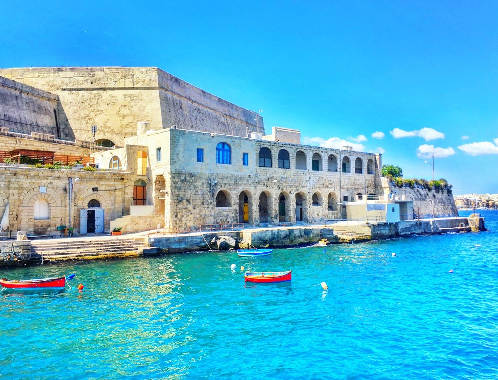The Maltese coastline