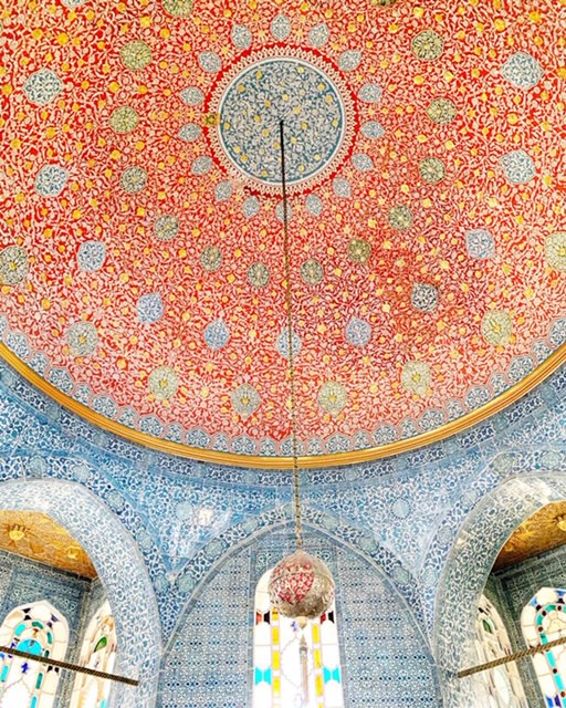Tile-work ceiling in the Topkapi Palace