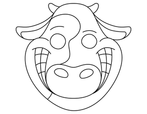 Cow Face Masks Git Free Chikin Collabrewate