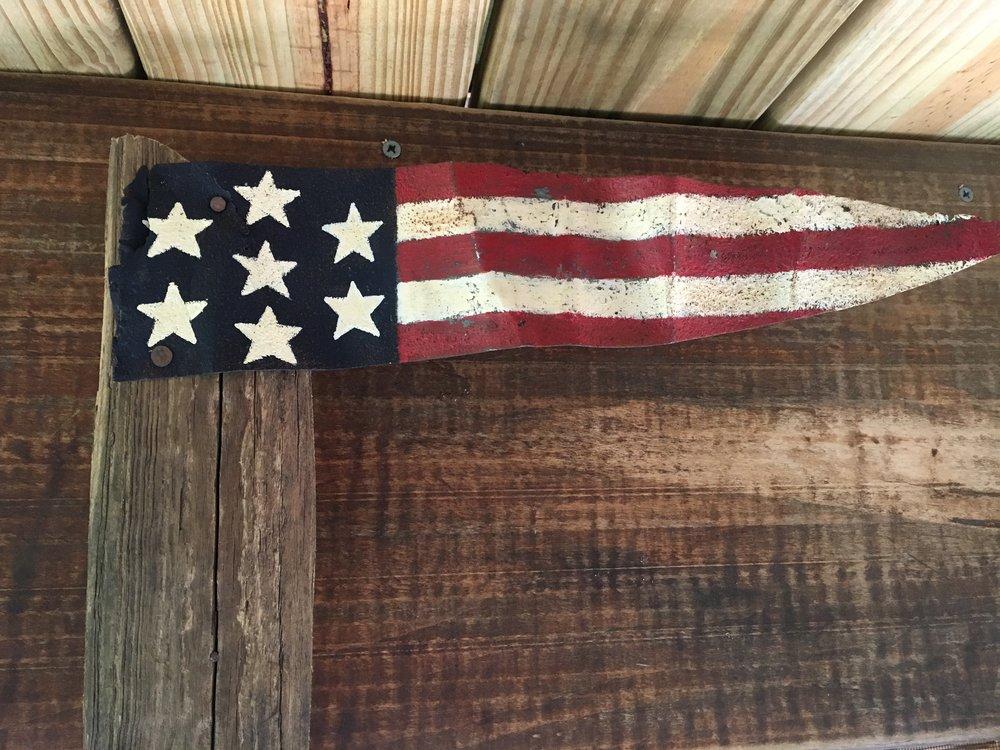 Painted Metal Flag
