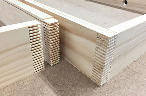 Construction - Premium lumber, free from knots and imperfections. Finger joints offer strong, dimensional stability.