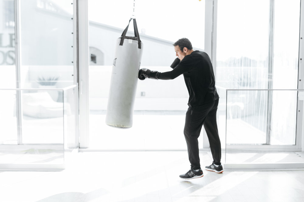 BOX - This high-intensity interval training workout sculpts your body and burns calories like nothing you've experienced before. Your trainer will lead you through explosive boxing rounds where you'll deliver jab, cross, hook and uppercut combinations, working your entire body on 100-pound heavy bags.