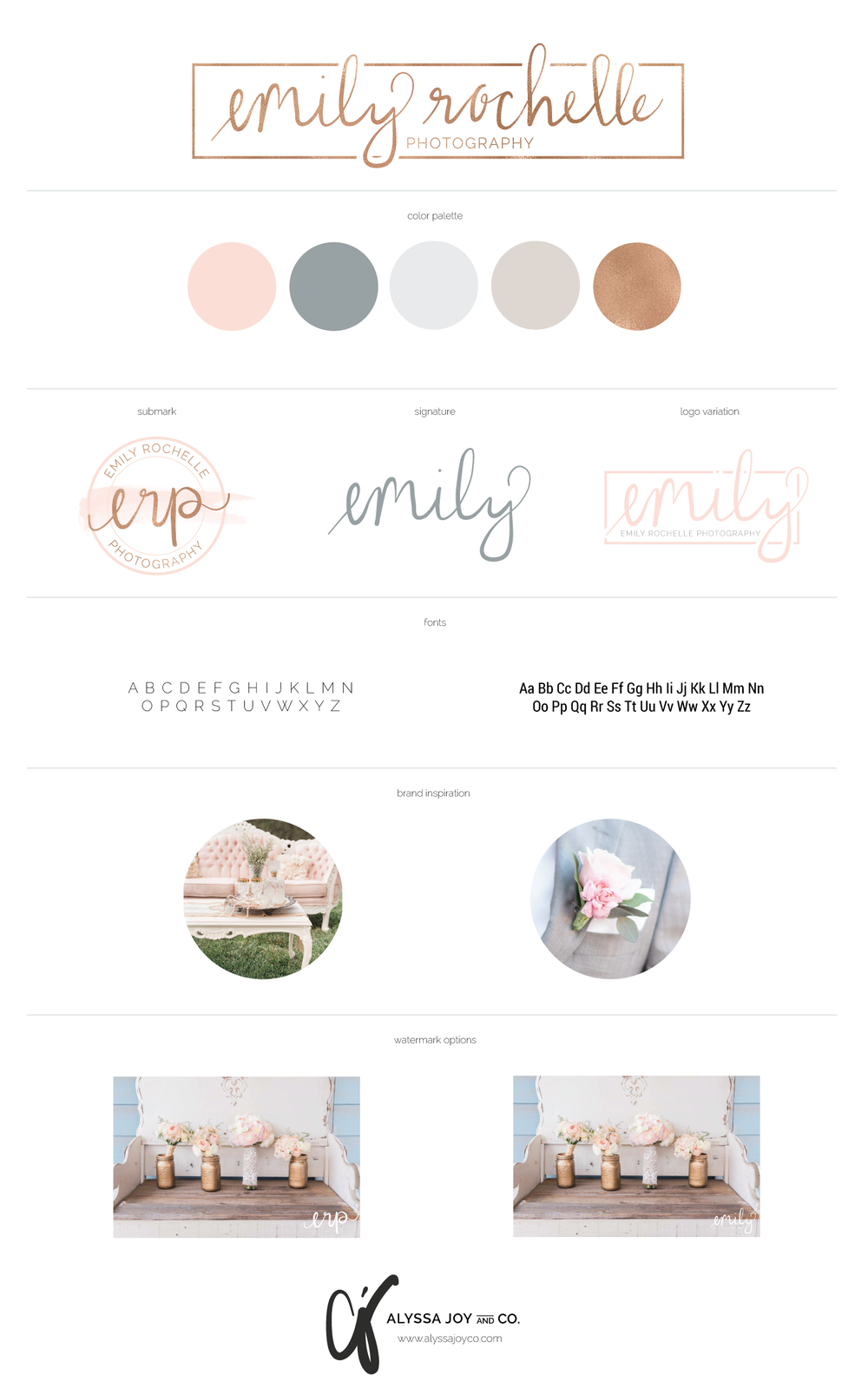 Emily Rochelle Photography . Brand Board