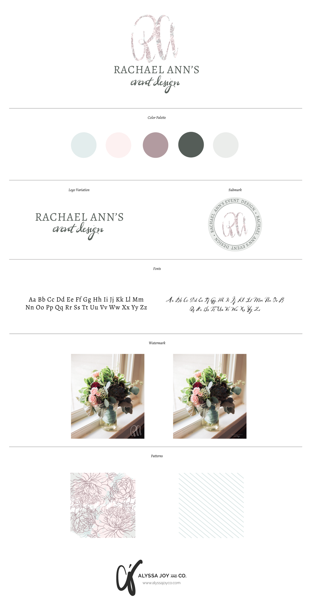 Alyssa Joy & Co.    Branding for Rachael Ann's Event Design
