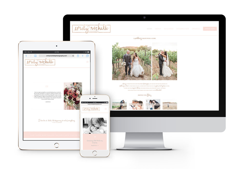 Alyssa Joy & Co. || Web Design || Emily Rochelle Photography || Wedding Photographer