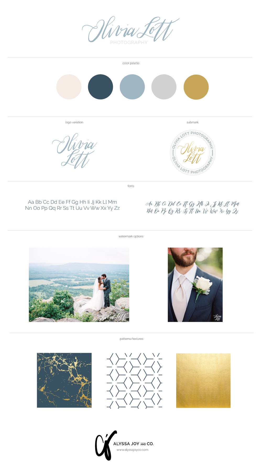 Alyssa Joy & Co. || Brand & Web Designer || Branding & Web Design for Olivia Lott Photography