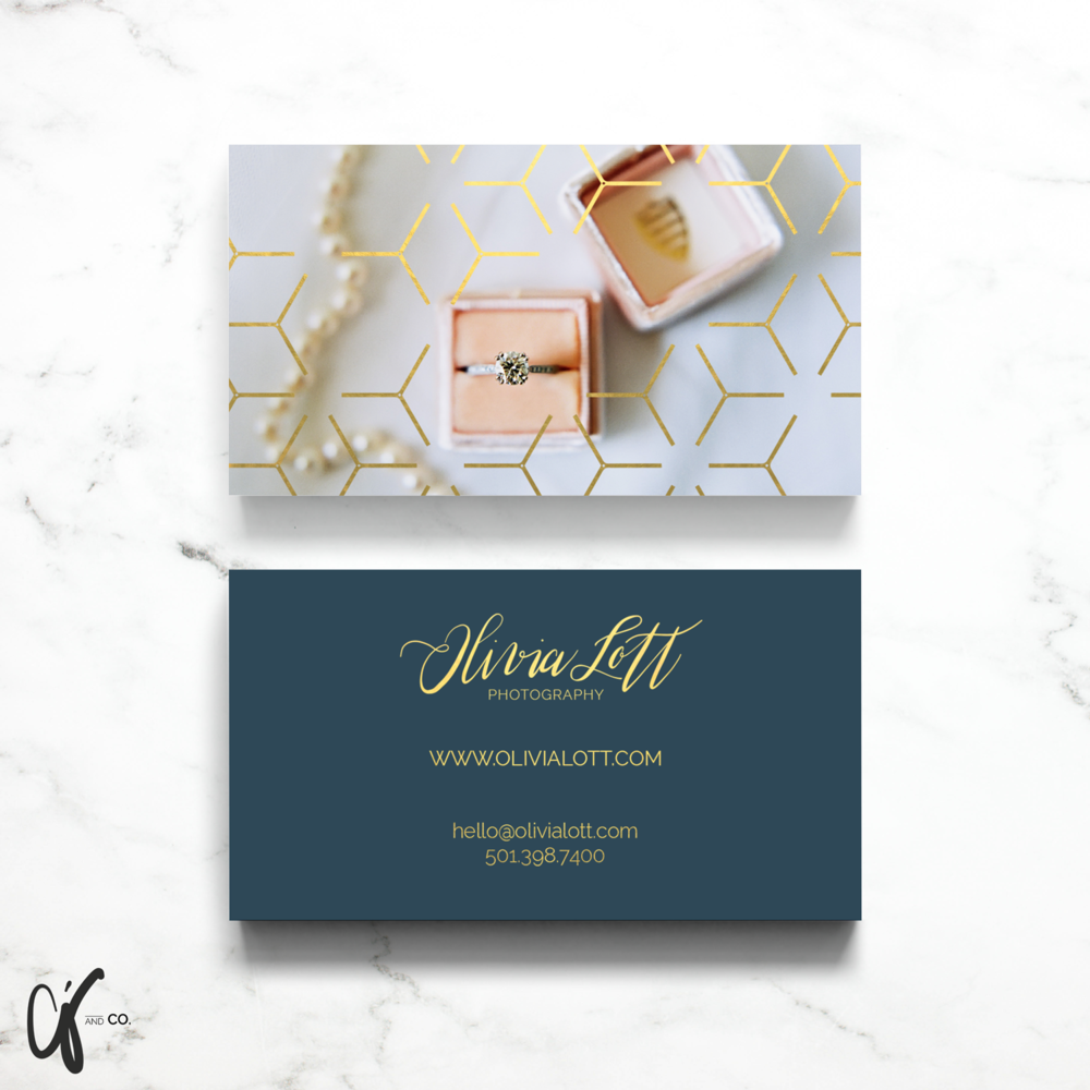 Alyssa Joy & Co. || Brand & Web Designer || Business Card Design for Olivia Lott Photography