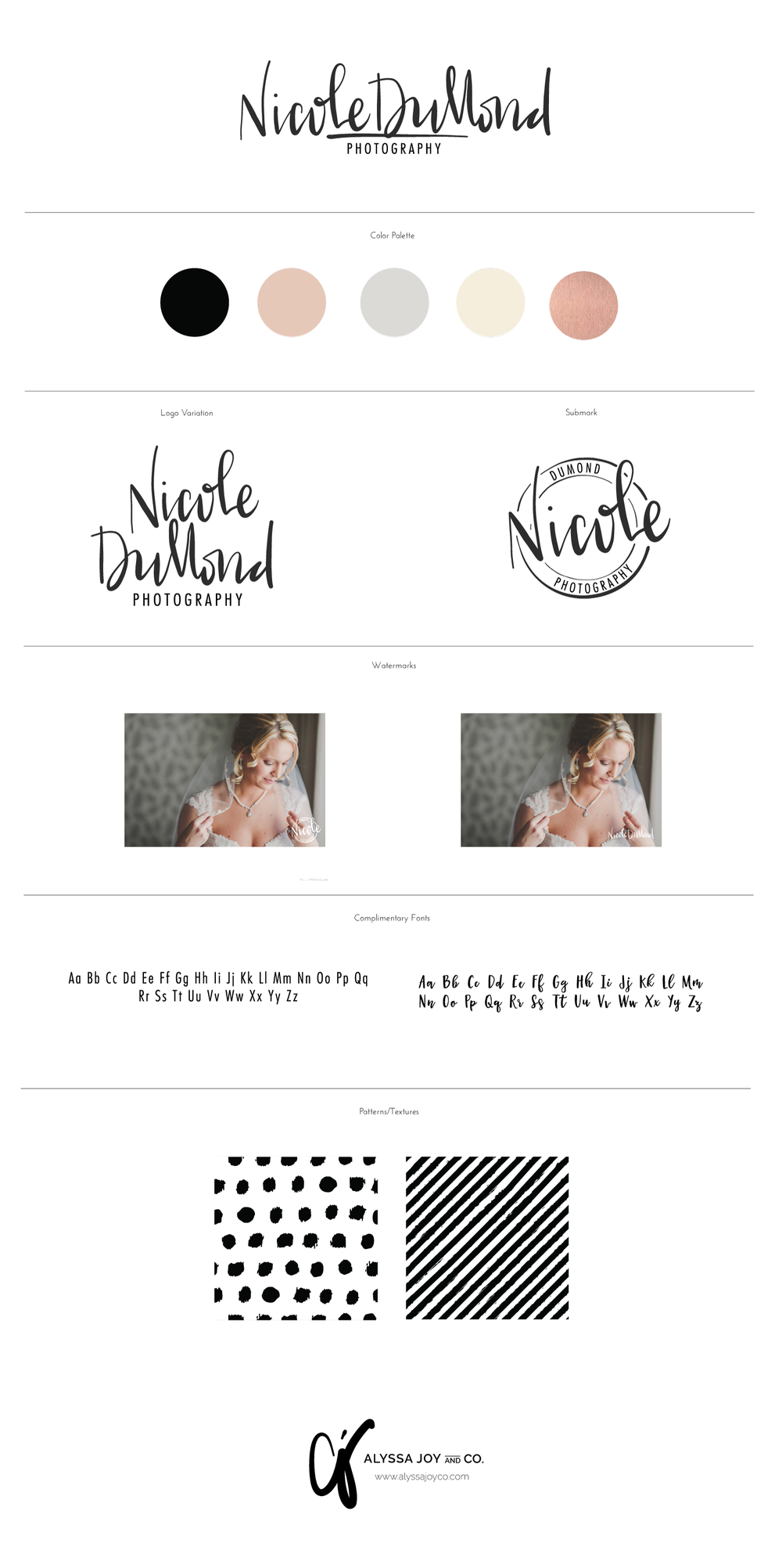 Alyssa Joy & Co. || Brand & Web Design || Brand Board Nicole DuMond Photography