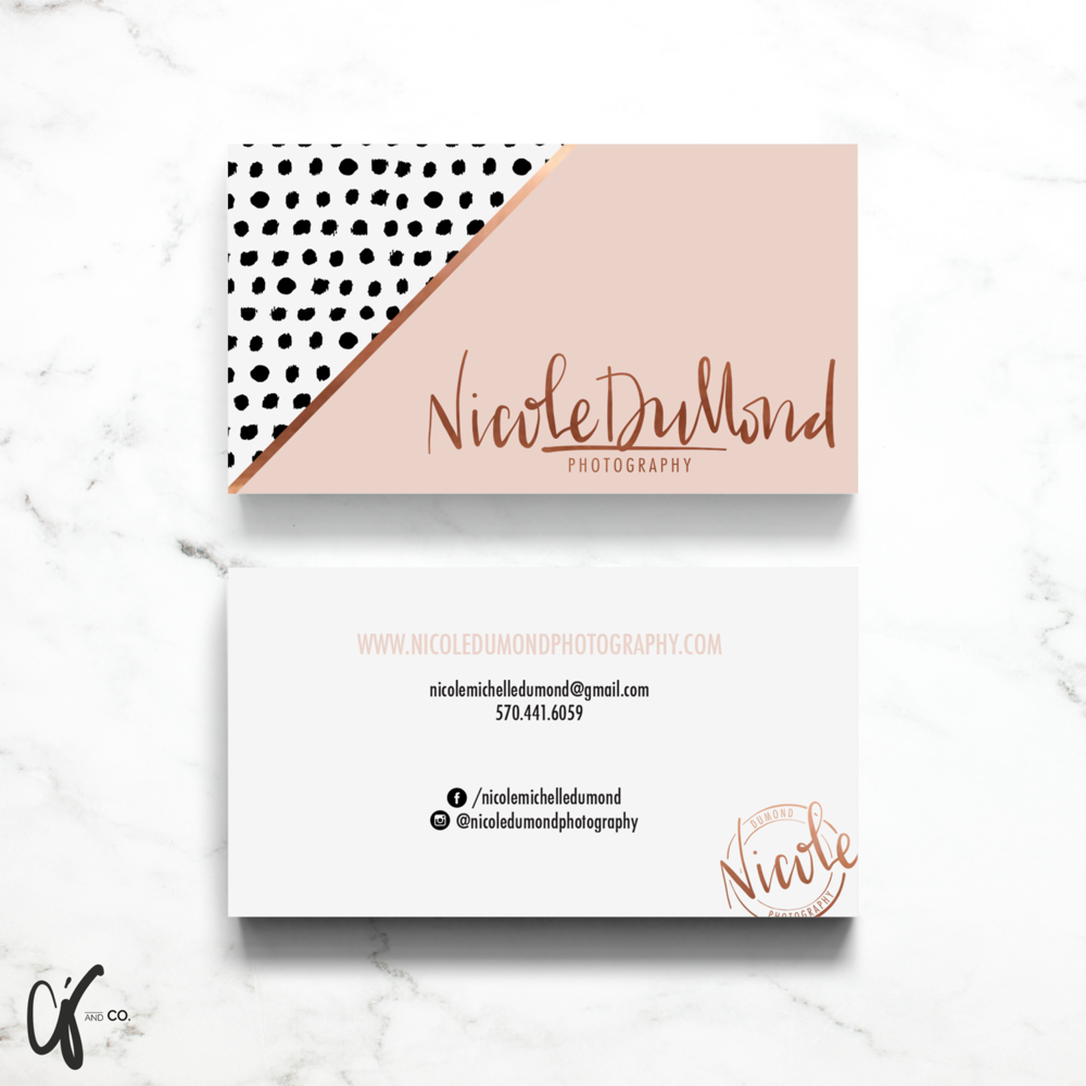 Alyssa Joy & Co. || Brand & Web Design || Business Card Nicole DuMond Photography