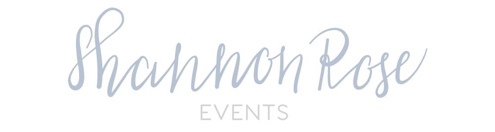 Shannon Rose Events Logo Design || Designed by Alyssa Joy & Co || Brand & Web Designer