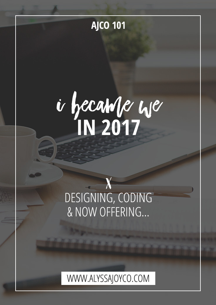 Alyssa Joy & Co. || Web Design for Creatives & Small Businesses || Design, Coding & Now Offering