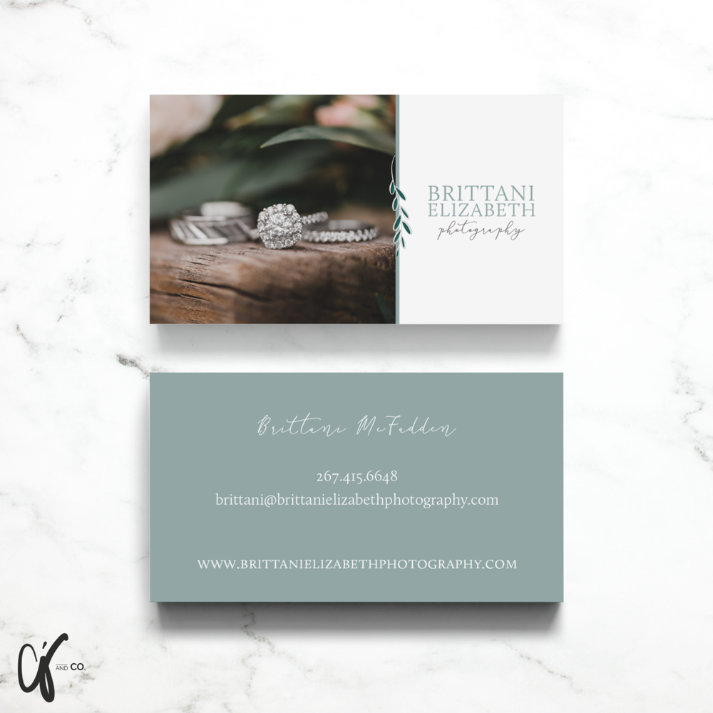 Alyssa Joy & Co. || Business Card Design for Brittani Elizabeth Photography
