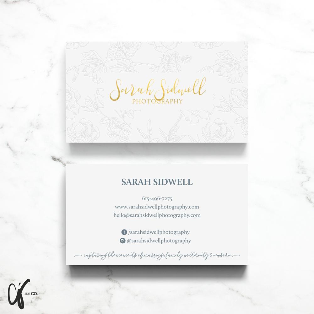 Alyssa Joy & Co. || Sarah Sidwell Photography Business Card Design