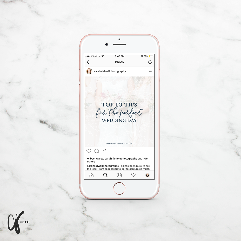 Alyssa Joy & Co. || Sarah Sidwell Photography Instagram Template Design
