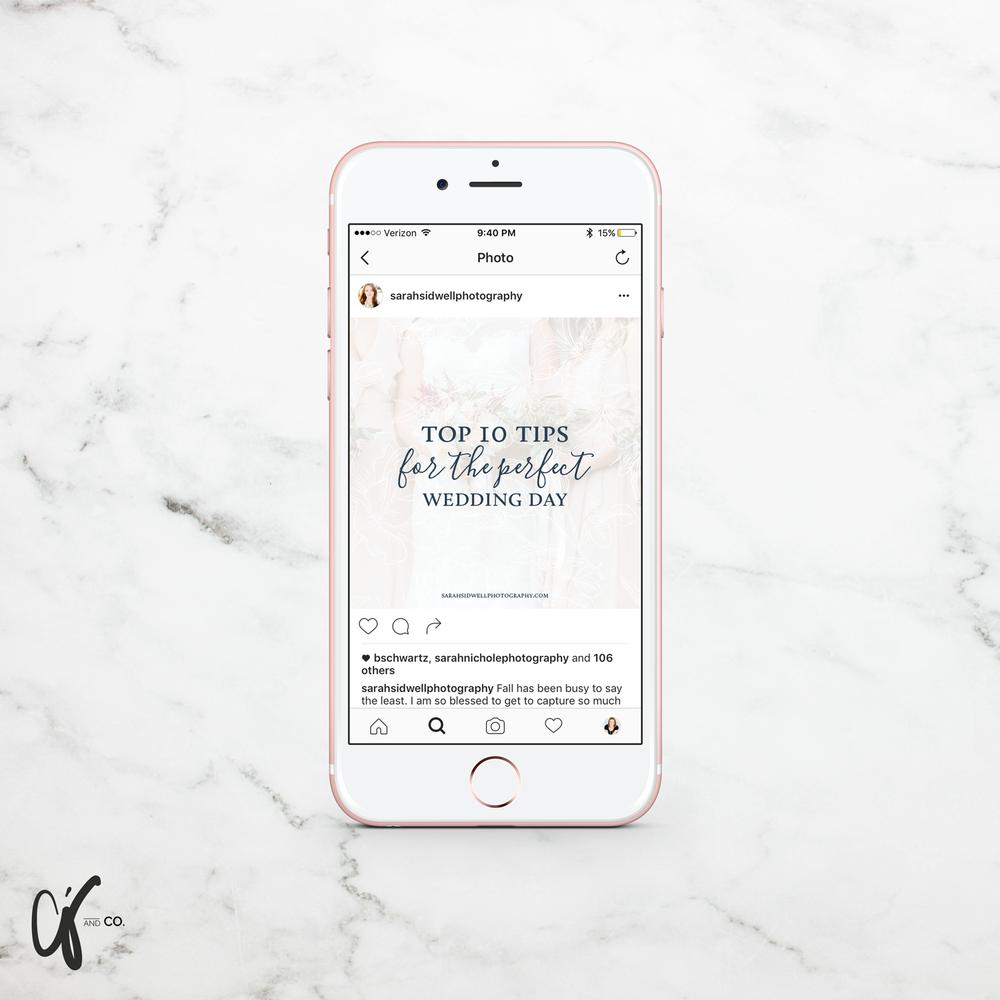 Alyssa Joy & Co. || Sarah Sidwell Photography Instagram Template Design