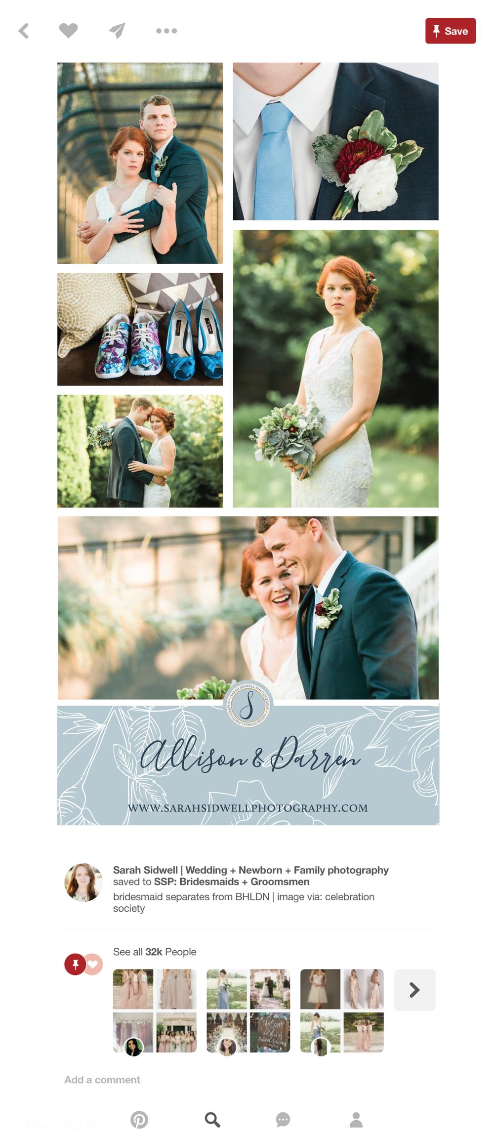 Alyssa Joy & Co. || Sarah Sidwell Photography Pinterest Template