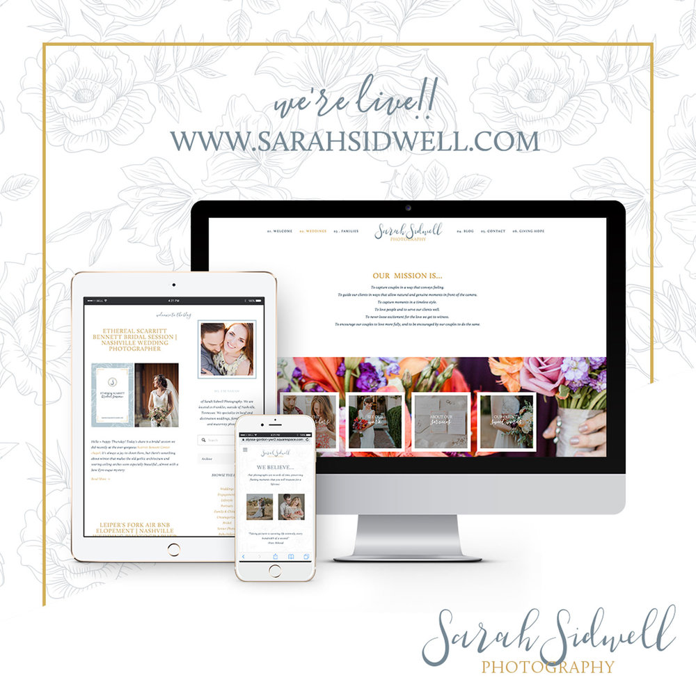 Alyssa Joy & Co. || Sarah Sidwell Photography Squarespace Website Design