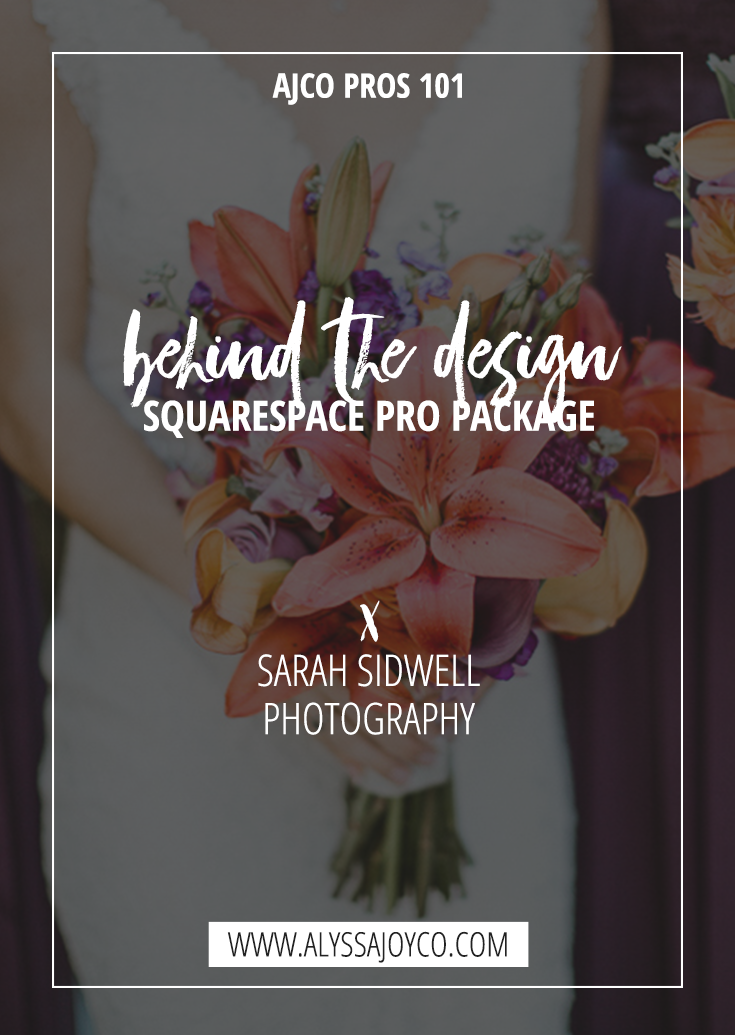 Alyssa Joy & Co. || Sarah Sidwell Photography Squarespace Pro Package