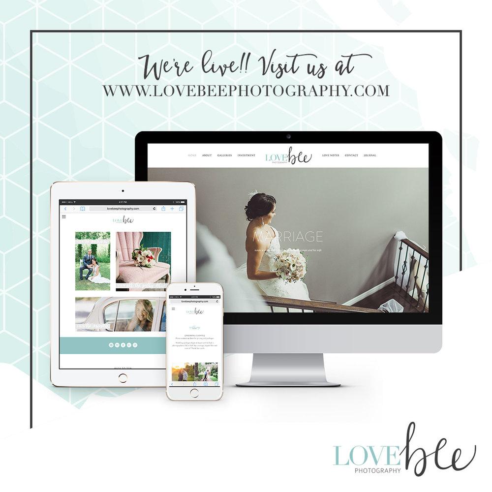Alyssa Joy & Co. || Love Bee Photography Squarespace Web Design
