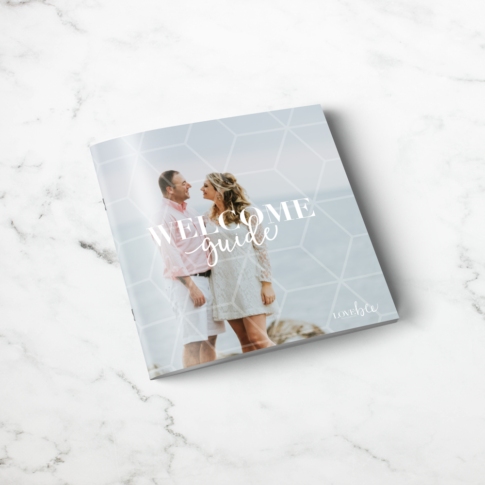 Alyssa Joy & Co. || Pricing Guide, Welcome Booklet Design for Love Bee Photography, Ontario, Canada