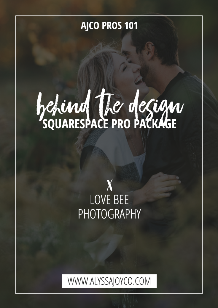 Alyssa Joy & Co. || Love Bee Photography || Squarespace Pro Package || Branding & Web Design