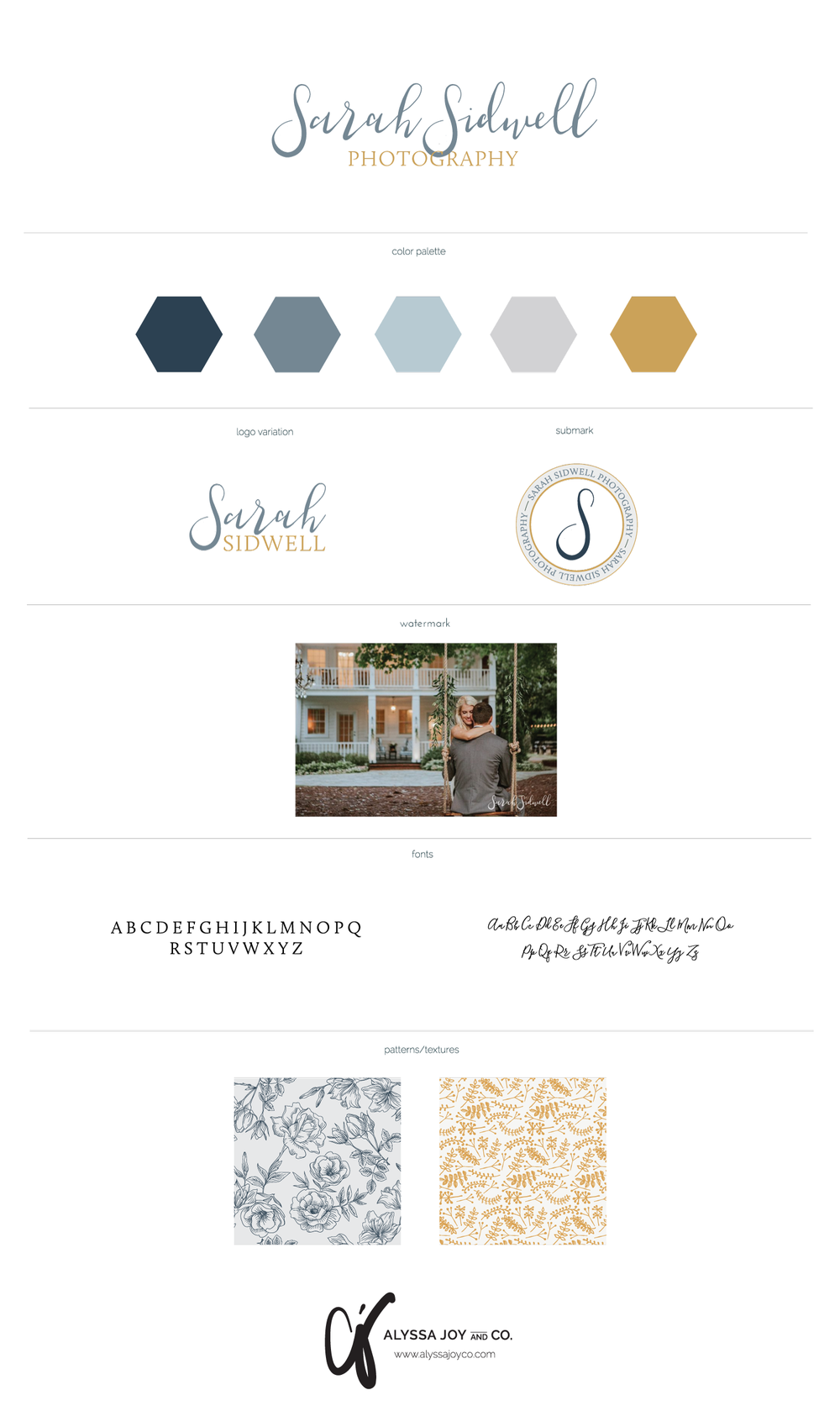 Alyssa Joy & Co. || Brand Design for Sarah Sidwell Photography