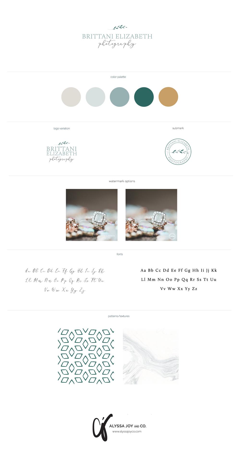 Alyssa Joy & Co. || Brittani Elizabeth Photography || Brand Board