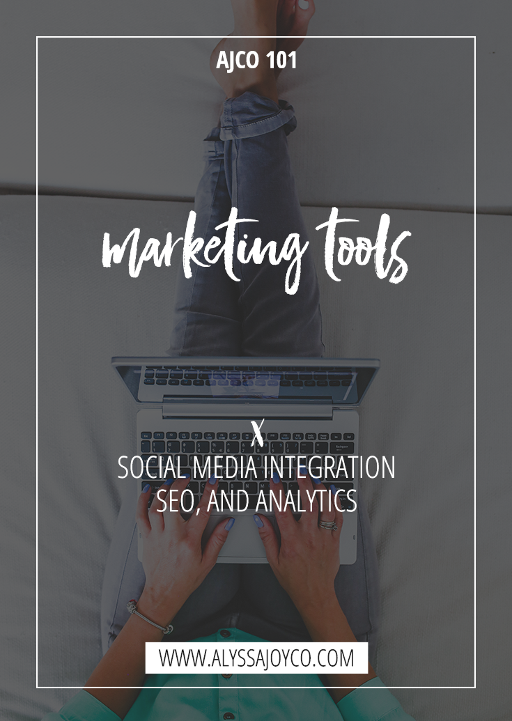 Alyssa Joy & Co. || Marketing Tools: Social Media Integration, SEO & Analytics || Wordpress, Shopify, Squarespace, ProPhoto 6