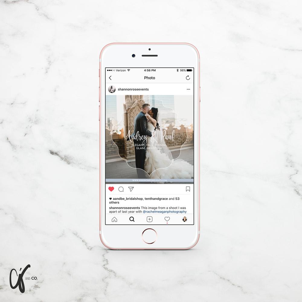 Alyssa Joy & Co. || Instagram Template Design || Shannon Rose Events, Boutique Wedding Planner in Fort Worth, TX