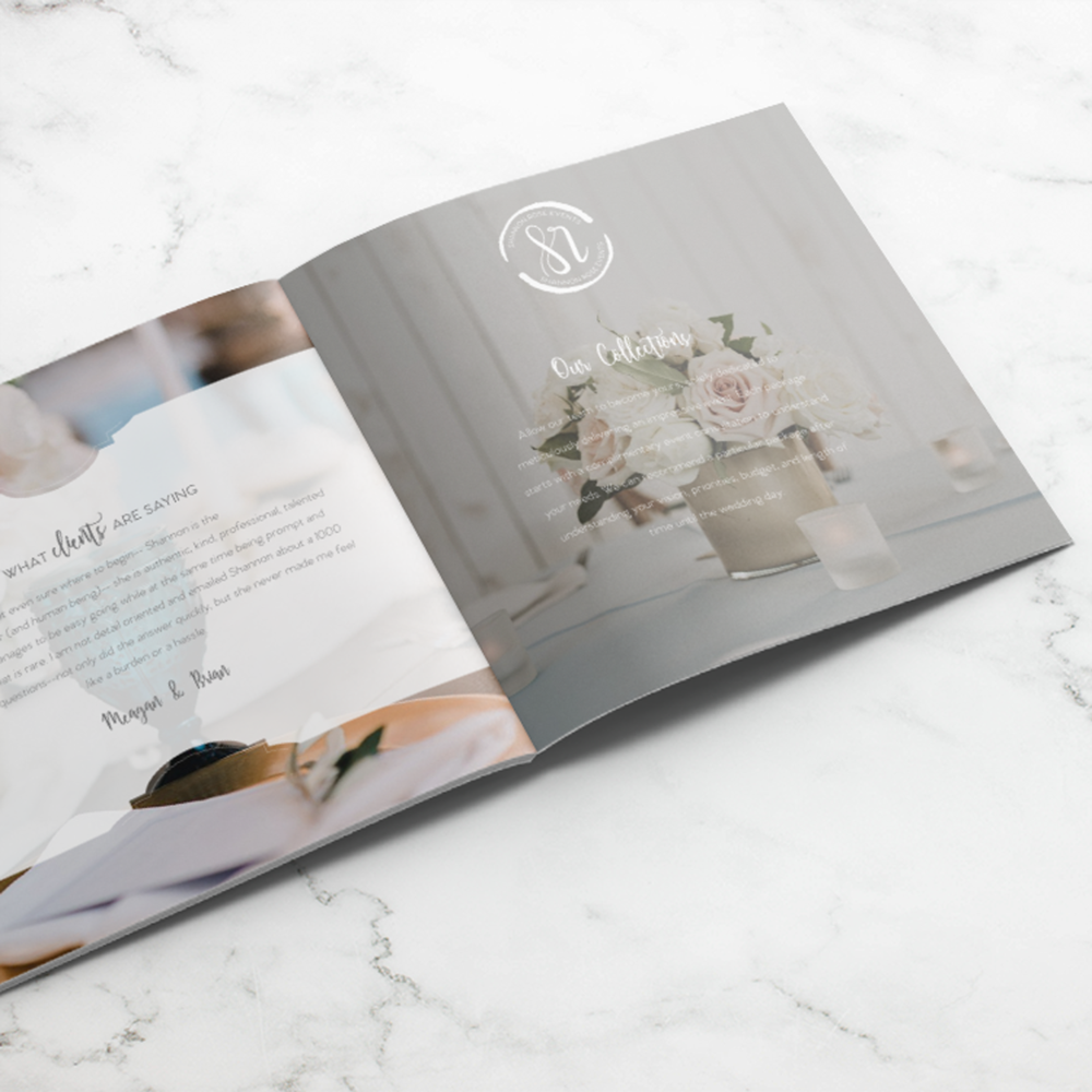 Alyssa Joy & Co. || Custom Pricing Guide Booklet Design || Shannon Rose Events, Boutique Wedding Planner in Fort Worth, TX