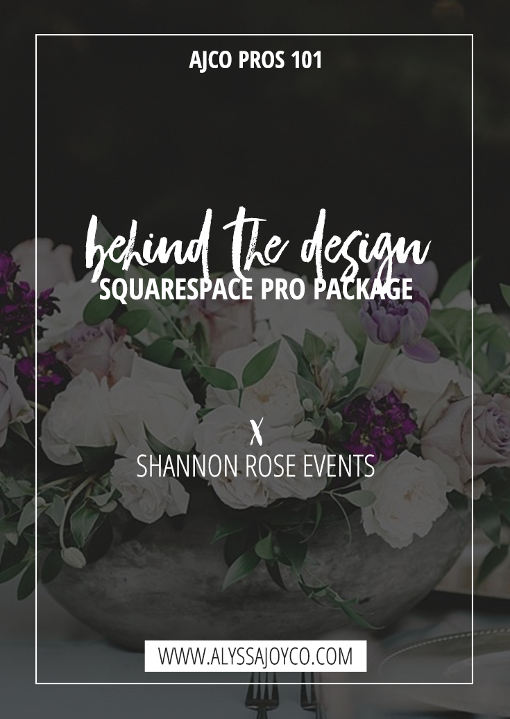 Alyssa Joy & Co. || Shannon Rose Events, Boutique Wedding Planner in Fort Worth, Texas || Behind the Scenes Squarespace Pro Package